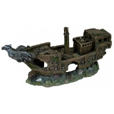 "Trixie Shipwreck - декорация для аквариума ""Обломки корабля с орлом"""