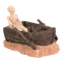 Trixie - скелет в лодке / Декорация для аквариума