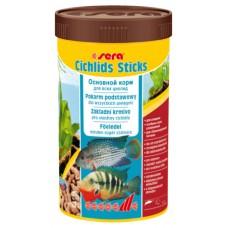 Sera Cichlids Sticks - универсальный корм для цихлид и крупных рыб
