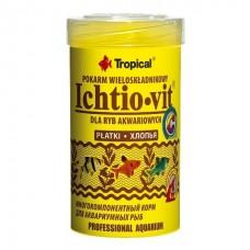 Tropical «Ichtio-Vit» - корм для ежедневного кормления всеядных рыб в хлопьях