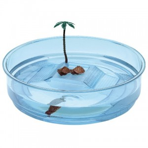 Ferplast Turtle Bowl Oasi Trasparente Blue - бассейн для черепах (Ø 34,5 x 9,5 cm)