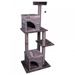 Karlie-Flamingo Villa Scratch Pole 2 ▪ КАРЛИ-ФЛАМИНГО домик когтеточка для кошек (65х55х175 см.)