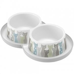 Moderna Double Trendy Dinner Maasai - двойная миска для кошек (2х350мл) d -10см