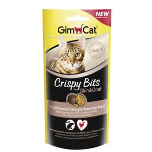 GimCat Crispy Bits Skin and Coat - мясные шарики для кожи и шерсти