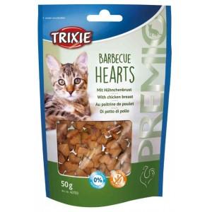 Trixie PREMIO Barbecue Hearts - лакомство для кошек / курица
