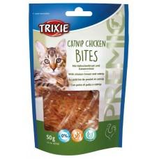 Trixie Premio Catnip Chicken Bites - лакомство для кошек / c куриной грудкой и кошачьей мятой