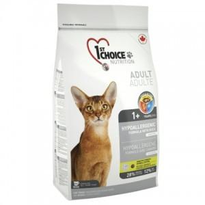 1st Choice «Фест Чойс» Hypoallergenic Adult ▪ гипоаллергенный сухой супер премиум корм для котов с уткой и картошкой