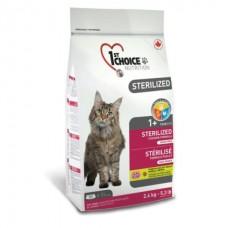 1st Choice Sterilized Chicken - корм для кастрированных котов и стерилизованных кошек / с курицей