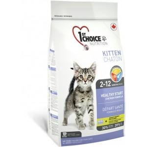 1st Choice Kitten HEALTHY START Chicken Formula - сухой супер премиум корм для котят
