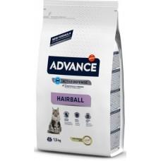 Advance Cat Hairball - корм для вывода шерсти у кошек / индейка и рис