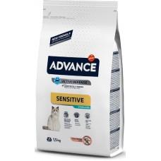 Advance «Эдванс» Cat Sensitive - корм для кошек с чувствительным желудком / лосось