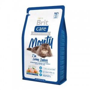 Brit Care Cat Monty I'm Living Indoor - Брит корм для домашних кошек (курица рис)