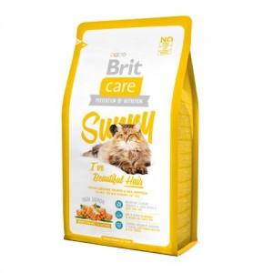 Brit Care Cat Sunny Beautiful Hair - Брит корм для кошек, шерсть которых требует дополнительного ухода (лосось рис)