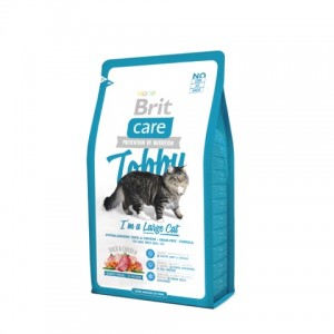 Brit Care Cat Tobby с уткой и курицей для кошек крупных пород