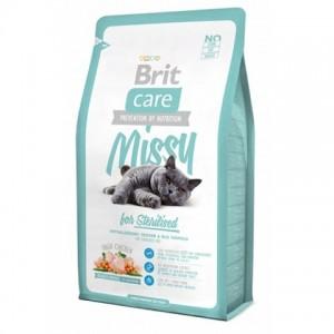 Brit Care Cat Missy for Sterilised - Брит корм для стерилизованных кошек (курица рис)