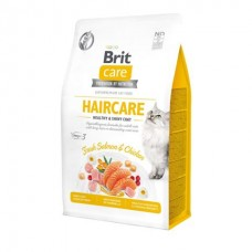 Brit Care Cat Grain-Free Haircare Healthy & Shiny Coat - беззерновой корм для взрослых кошек (курица и лосось)