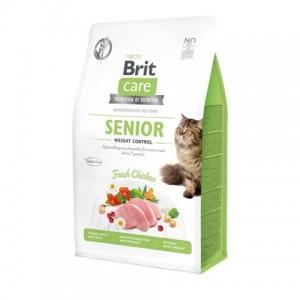 Беззерновой корм для кошек старше 7 лет «Brit Care Cat GF Senior Weight Control»   Корм «Брит Каре - Кошки - Пожилые - Контроль веса»: здоровое пищеварение и иммунитет   страна-производитель: Чехия   Petplus
