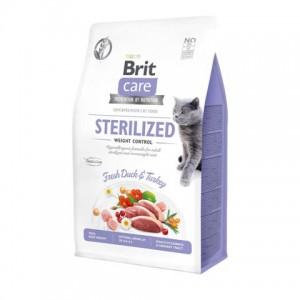 Беззерновой корм для взрослых кошек «Brit Care Cat GF Sterilized Weight Control»   Корм «Брит Саре - Кошки - Стерилизованные - Контроль веса»: Идеальная масса тела   страна-производитель: Чехия   Petplus