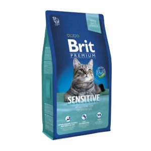 Brit Premium Cat Sensitive гипоаллергенный корм для кошек с чувствительным пищеварением