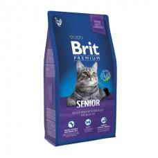 BRIT Premium Cat Senior - Корм для пожилых кошек КУРИЦА С СОУСОМ ИЗ КУРИНОЙ ПЕЧЕНИ