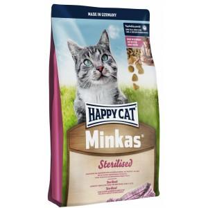 Happy Cat (Хэппи Кет) Minkas Sterilised - корм для стерилизованных кошек и кастрированных котов