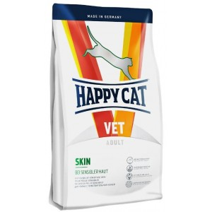 Сухой корм при заболеваниях кожи у кошек: «Happy Cat Vet Diet Skin» белок из оленя, рисовый протеин, лосось | Регенерация при раздражении кожи: Хеппи Кэт Вет | Petplus