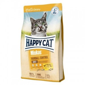 Happy Cat Hairball Control Geflügel - корм для профилактики волосяных комочков у взрослых кошек / домашняя птица