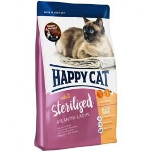 Happy Cat (Хэппи Кет) Adult Sterilised Atlantik-Lachs - корм для стерилизованных кошек и кастрированных котов