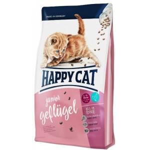 Корм Happy Cat Supreme Junior Geflugel хорошо сбалансированная диета для котят