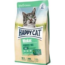 Happy Cat Minkas Pеrfect Mix - корм для взрослых кошек из мяса птицы, ягнёнка и рыбы