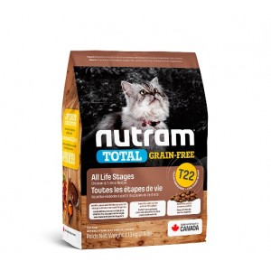 Nutram Total Grain-Free (T22) Turkey & Chiken Cat Food - беззерновой корм для кошек / курица с индейкой