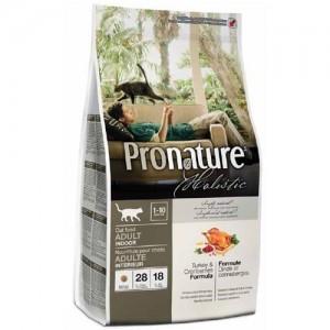 Pronature Holistic Adult Turkey & Cranberries - сухой холистик корм для котов с индейкой и клюквой