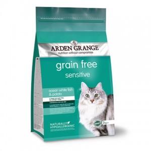 Полноценный корм для кошек «Аrden Grange GF Sensitive Ocean White Fish&Potato» для чувствительного пищеварения | Petplus