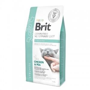 Brit Veterinary Diet Cat Grain free Struvite - беззерновая диета при струвитном типе МКБ для кошек