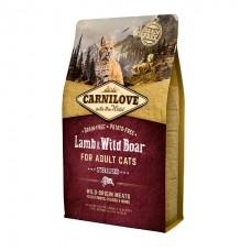 Carnilove Cat Lamb & Wild Boar Sterilised с ягненком и мясом дикого кабана для взрослых стерилизованных кошек