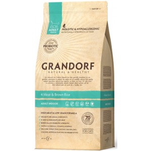 «Grandorf Living Probiotics 4 Meat & Brown Rice» корм класса холистик с пробиотиками найти сейчас в зоомагазине Petplus: описание, фото
