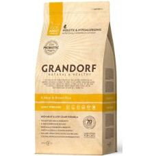 Grandorf (Грандорф) 4 Meat & Brown Rice (ADULT STERILIZED) - корм для стерилизованных кошек с полезными пробиотическими бактериями