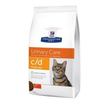 Hill's Prescription Diet Feline C/D Multicare курица, здоровье мочевыводящих путей