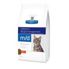 Hill's Prescription Diet Feline M/D  сахарный диабет и/или избыточный вес