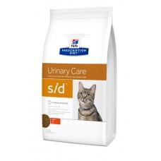 Hill's Prescription Diet Feline Urinary  Care S/D для быстрого расстворения струвитных камней