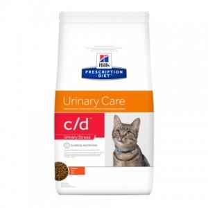 Лечебный сухой корм для котов Hill's Prescription Diet Feline C/D Urinary Stress | Новая диетическая диета для здоровья нижних мочевыводящих путей: описание, отзывы