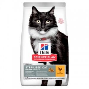 Сухой корм для стерилизованных пожилых кошек с курицей | Hill's Science Plan Feline Mature Adult 7+ Sterilised Cat | Petplus