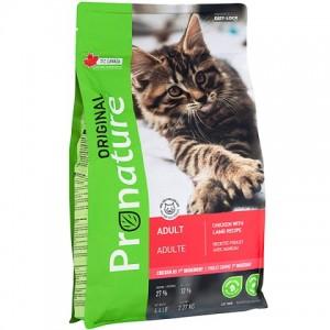 Pronature Original Adult Lamb and Chiсken - корм для взрослых котов / ягненок с курицей