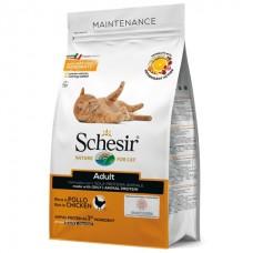 Schesir Cat Adult Chicken - сухой монопротеиновый корм для кошек с курицей