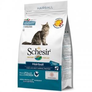 Schesir Cat Adult Hairball - сухой монопротеиновый корм для котов с длинной шерстью