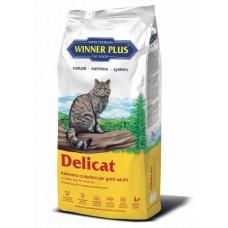 Winner Plus Super Premium Delicat - безглютеновый cухой корм для кошек с курицей и уткой