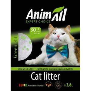 """AnimАll (Энимал) наполнитель силикагель """"Зеленый холм"""" для котов, 3.8л"""