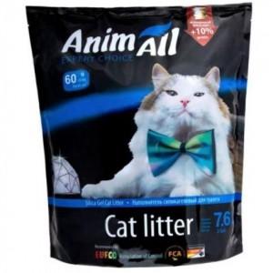 """AnimAll силикагель """"Голубой аквамарин"""" наполнитель для кошачьих туалетов на основе силикагеля"""