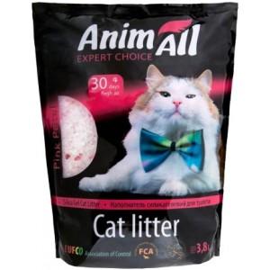 AnimАll (Энимал) наполнитель силикагель Розовый лепесток для котов, 3.8л