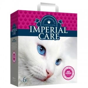 IMPERIAL CARE (Империал) с BABY POWDER ультра-комкующийся наполнитель в кошачий туалет
